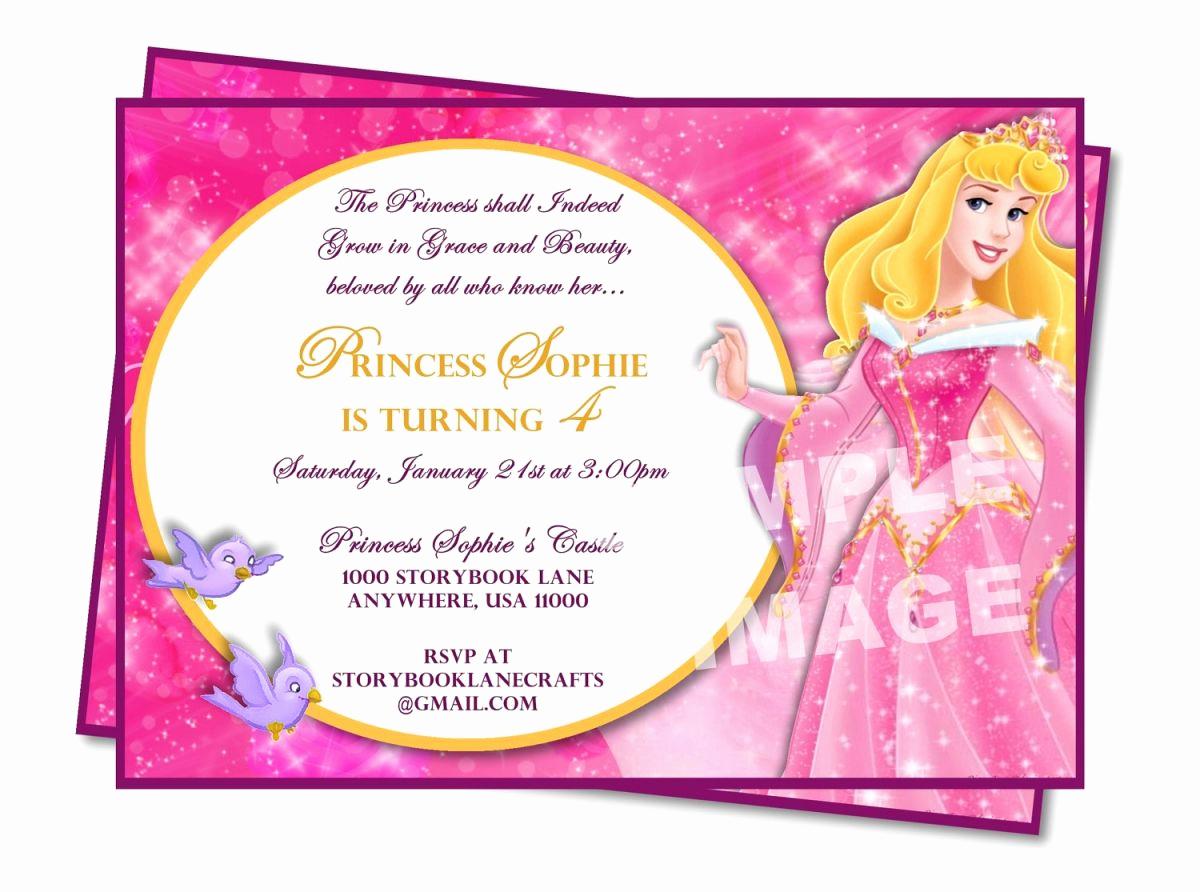 Sample Party Invitation Wording Inspirational Sample Princess Birthday Invitation Wording