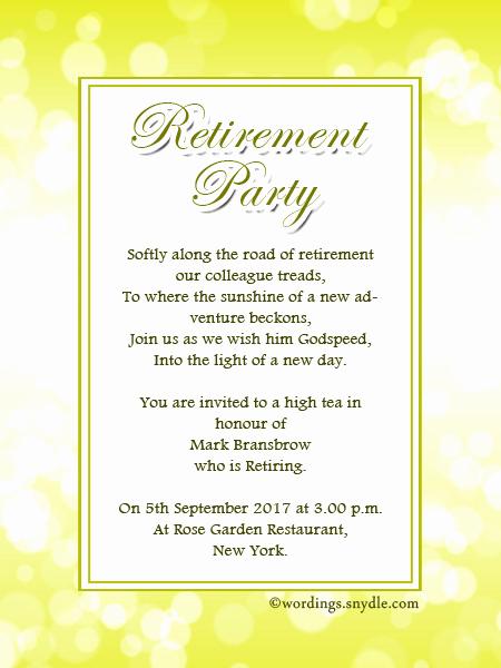 Sample Party Invitation Wording Luxury Retirement Party Invitation Wording Ideas and Samples