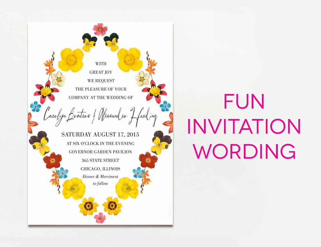 Sample Wedding Invitation Wording Inspirational 15 Wedding Invitation Wording Samples From Traditional to Fun