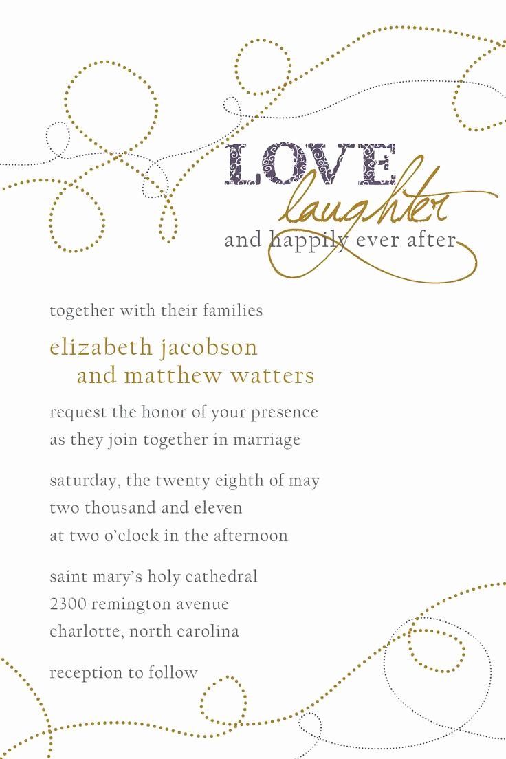 Sample Wedding Invitation Wording Lovely Best 25 Wedding Invitation Wording Ideas On Pinterest