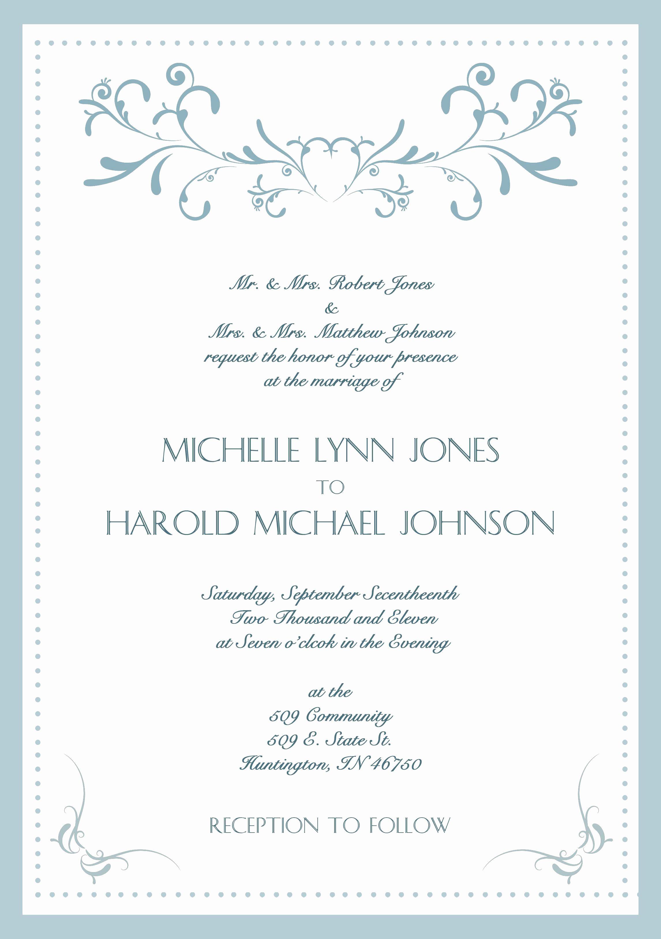 Sample Wedding Invitation Wording Lovely Sample Wedding Invitation Cards In English