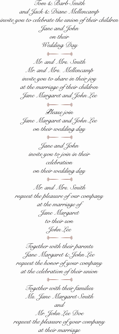 Sample Wedding Invitation Wording New Best Wedding Invitation Wording Examples