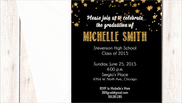 Samples Of Graduation Invitation Elegant 48 Sample Graduation Invitation Designs & Templates Psd