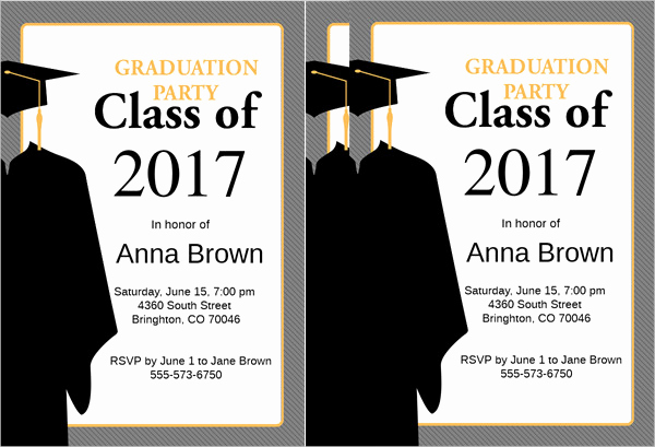 Samples Of Graduation Invitation Fresh 48 Sample Graduation Invitation Designs & Templates Psd