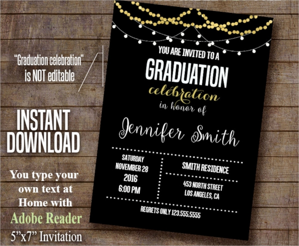 Samples Of Graduation Invitation New 22 Sample Graduation Invitations Psd Vector Eps Word