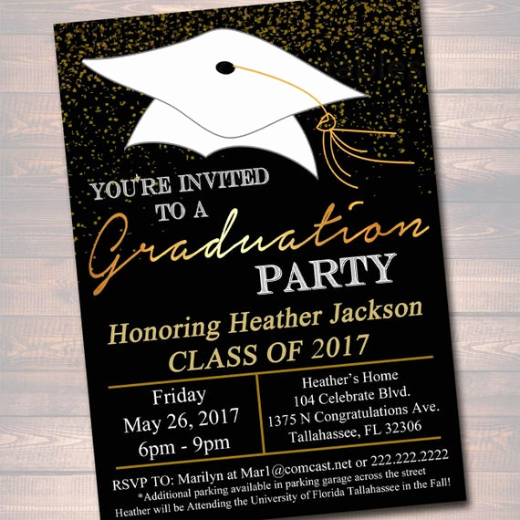 Samples Of Graduation Invitation Unique Editable Graduation Party Invitation High School Graduation