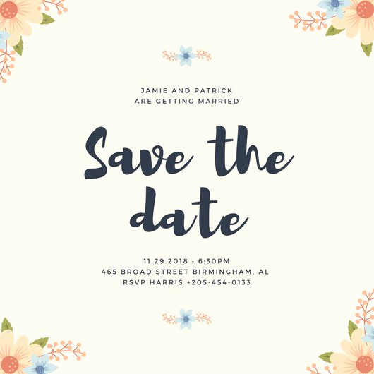 Save the Date Invitation Ideas Fresh Save the Date Invitation Templates Canva