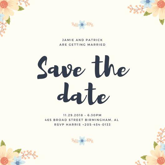 Save the Date Invitation Ideas Fresh Save the Date Invitation Templates Canva
