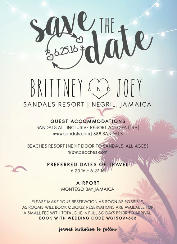Save the Date Invitation Ideas Lovely 21 Ways to Incorporate Jamaican Culture Into Your
