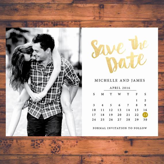 Save the Date Invitation Ideas Unique Save the Date Invitation Calendar Save the Dates Faux Gold