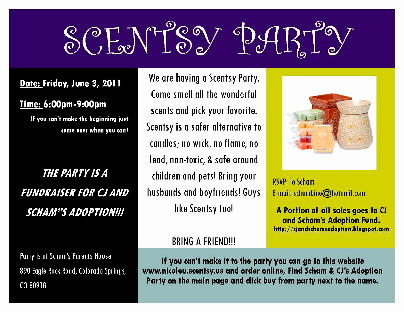 Scentsy Party Invitation Template Awesome Cj & Scham S Adoption Journey New Scentsy Fundraiser