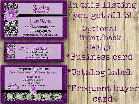 Scentsy Party Invitation Template New Business Card Direct Sales Marketing Independant