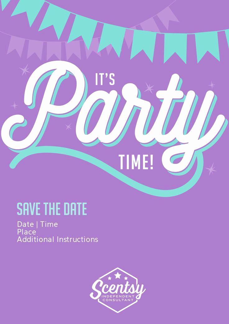 Scentsy Party Invitation Template Unique Scentsy Party Invitation