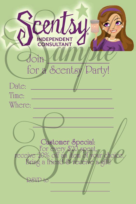 Scentsy Party Invitation Wording Best Of Scentsy Consultant Fill In Party Invitation Custom