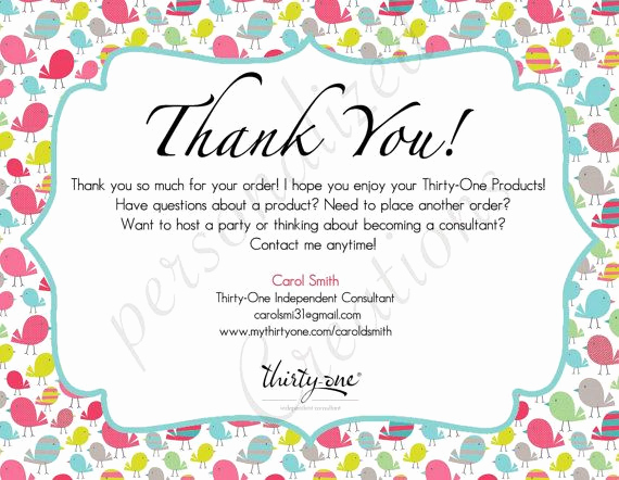 Scentsy Party Invitation Wording Fresh Personalized Thank You Cards Made for Thirty E Gifts