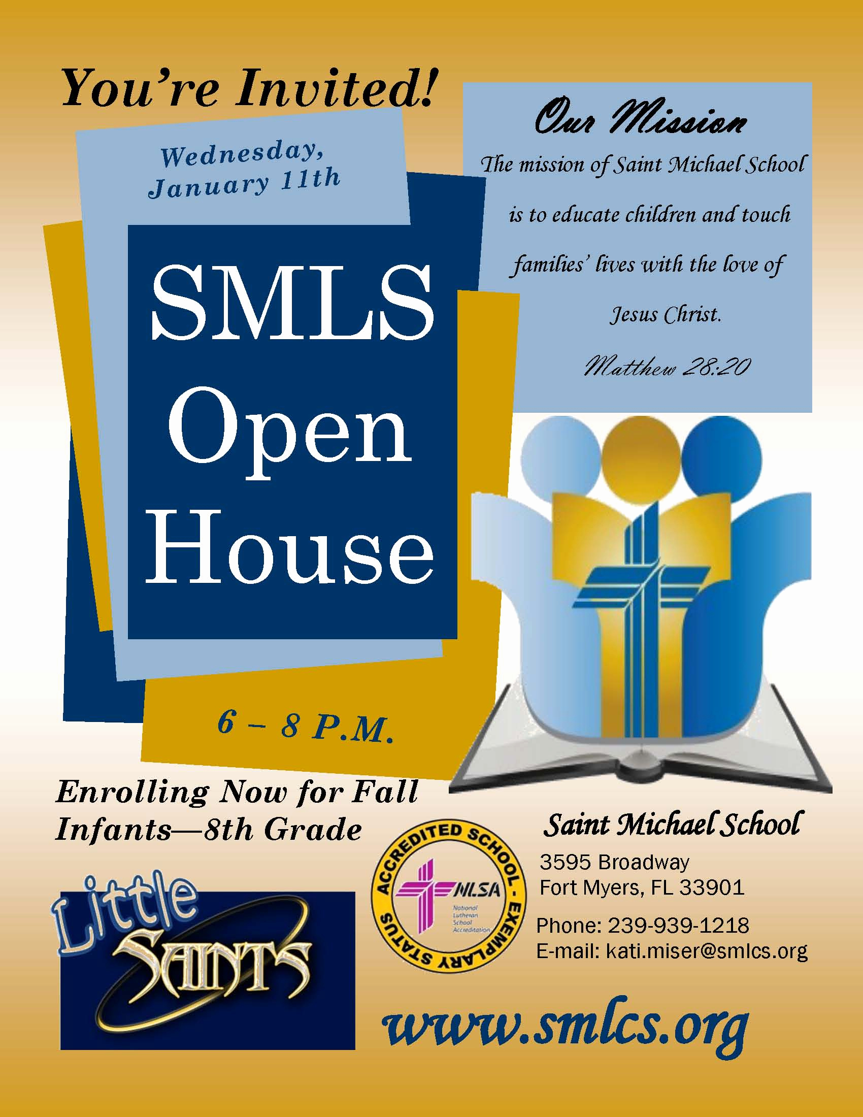 School Open House Invitation Elegant Open House Invitation – Saint Michael Lutheran School