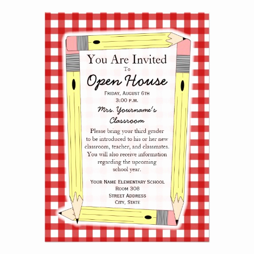 "School Open House Invitation Fresh Back to School Open House Invitation 5"" X 7"" Invitation"