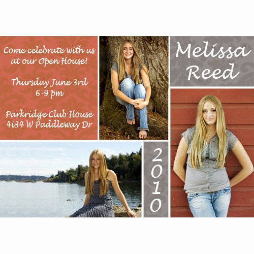 School Open House Invitation Inspirational Damask Open House Graduation Announcement High School