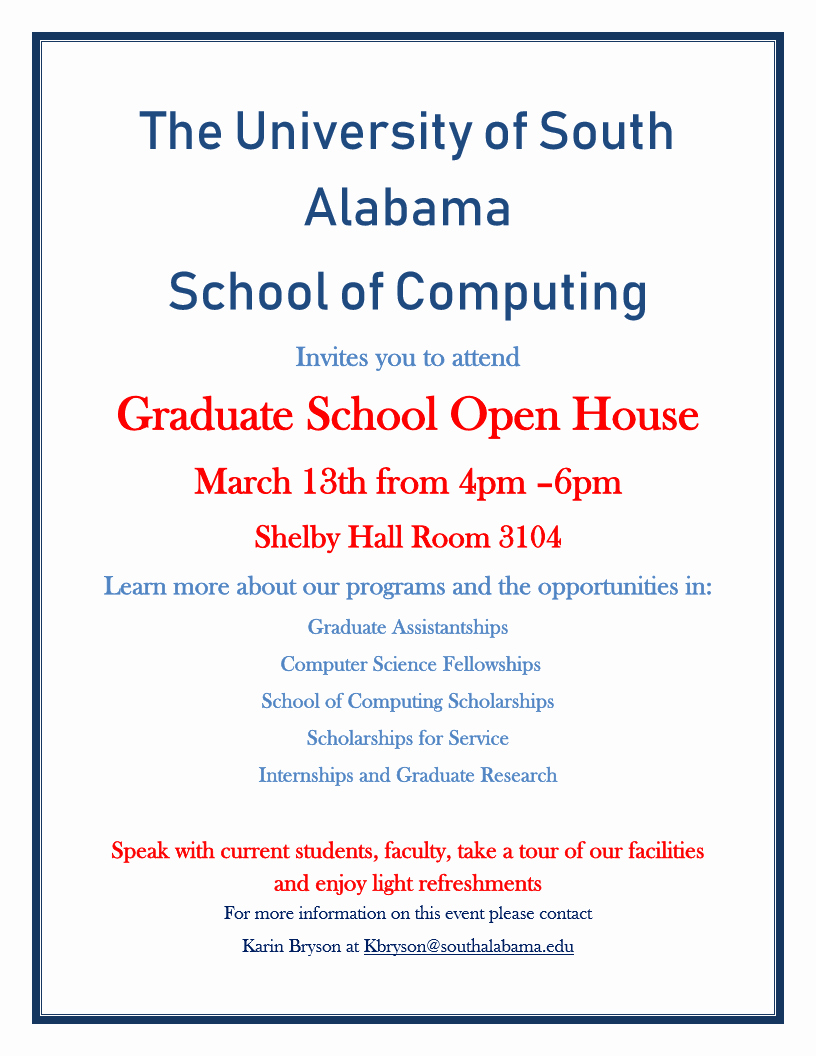 School Open House Invitation New Graduate School Open House