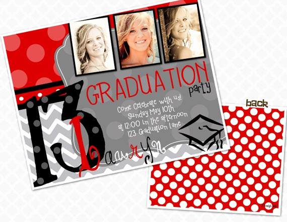 School Open House Invitation New Items Similar to Picture Frame Graduation Party Invite