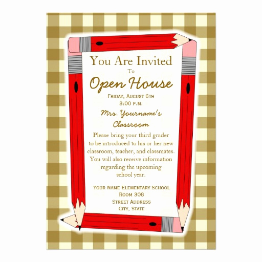 "School Open House Invitation Template Awesome Back to School Open House Invitation 5"" X 7"" Invitation"