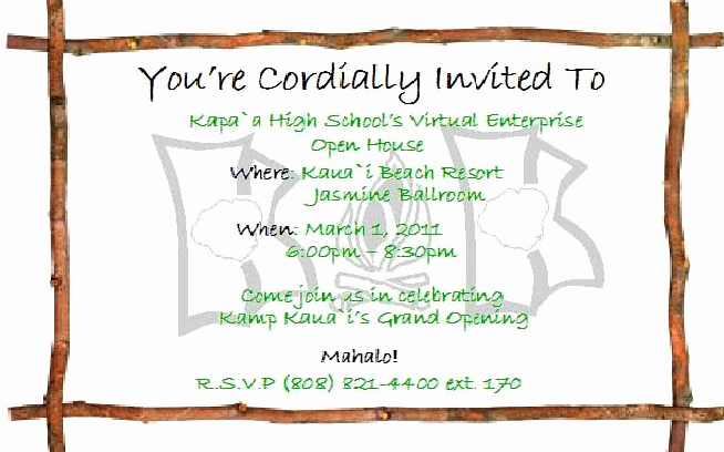 School Open House Invitation Template Awesome Business Open House Invitations