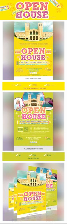 School Open House Invitation Template Luxury 1000 Images About Flyers On Pinterest