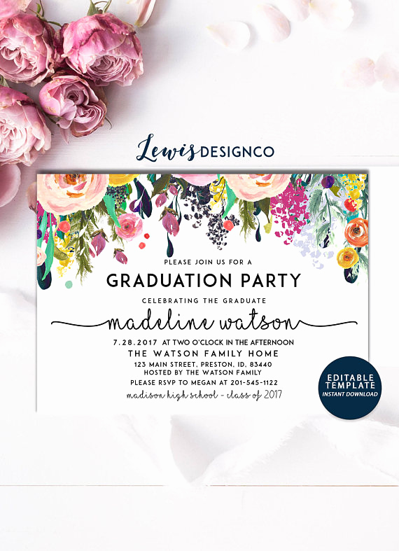 School Open House Invitation Template Luxury Graduation Party Invitation High School Graduation Invite