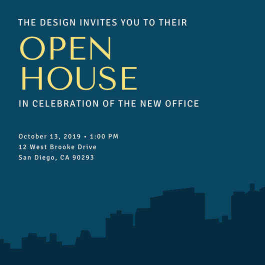 School Open House Invitation Template Luxury Open House Invitation Templates Canva