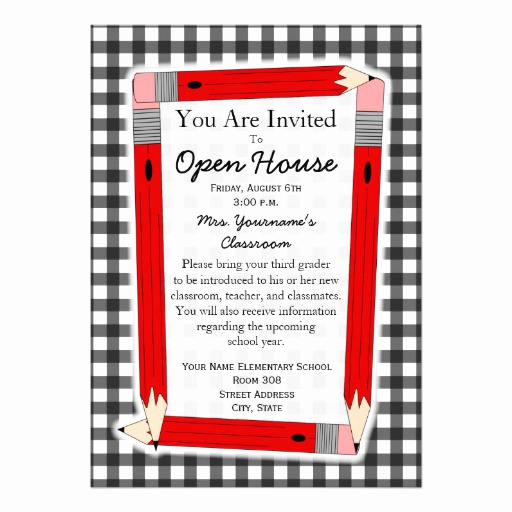 "School Open House Invitation Unique Back to School Open House Invitation 5"" X 7"" Invitation"