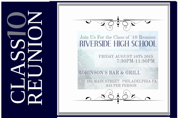 School Reunion Invitation Templates Free Luxury Copy Of Class Reunion