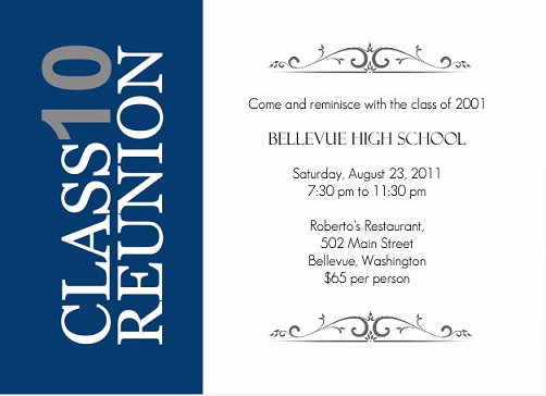 School Reunion Invitation Templates Free New Class Reunion Decoration Ideas From Purpletrail