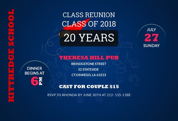 School Reunion Invitation Templates Free Unique 10 Reunion Invitation Templates Psd Ai Vector Eps