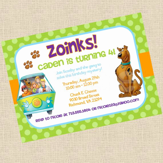 Scooby Doo Invitation Template Beautiful Partiesinbloom On Etsy