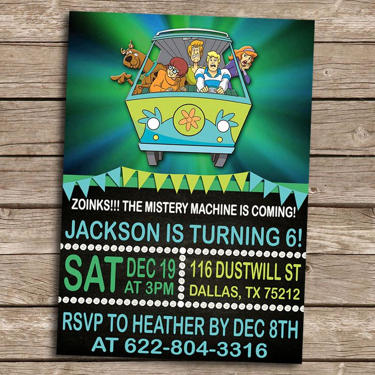 Scooby Doo Invitation Template Best Of Scooby Doo Birthday Invitation Personalized Printable