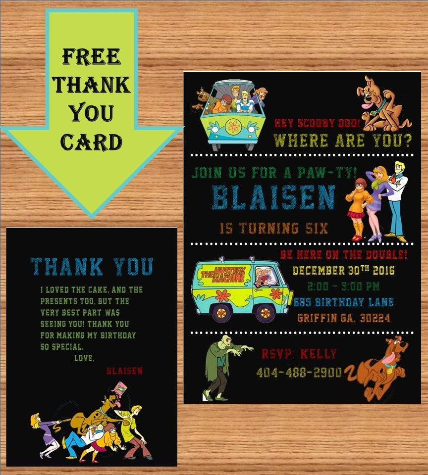 Scooby Doo Invitation Template Best Of Scooby Doo Invitation Scooby Doo Birthday Scooby Doo Party