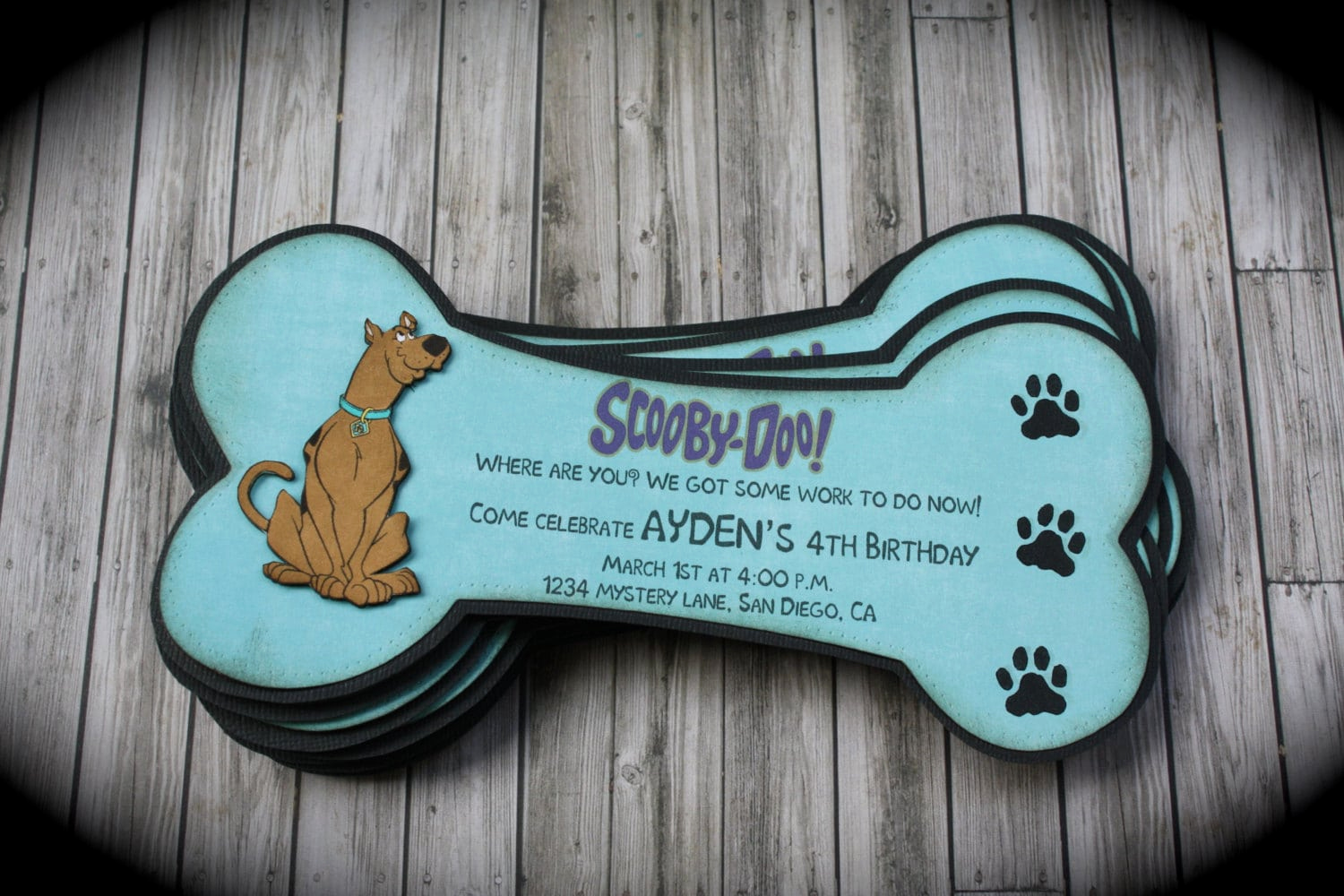 Scooby Doo Invitation Template Elegant Scooby Doo Invitation Template