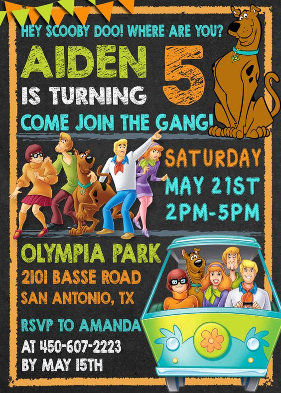 Scooby Doo Invitation Template Elegant Scooby Doo Party Invitation