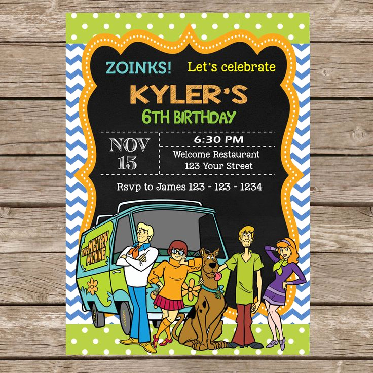 Scooby Doo Invitation Template Fresh 30 Best Images About Scooby Doo On Pinterest