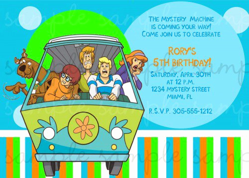 Scooby Doo Invitation Template Fresh Scooby Doo Party Invitations