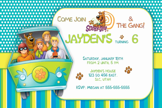 Scooby Doo Invitation Template Lovely Free Printable Scooby Doo Birthday Party Invitations