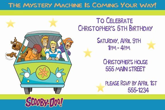 Scooby Doo Invitation Template Unique 1000 Images About Scooby Doo Birthday Party Ideas On