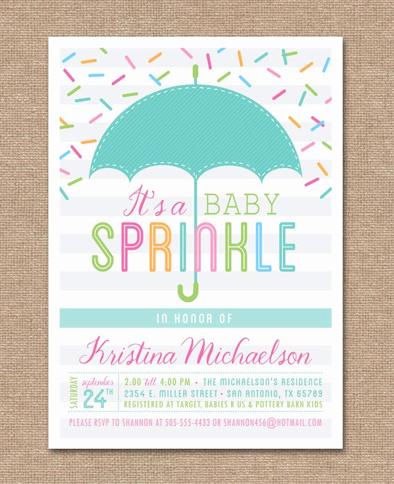 Second Baby Shower Invitation Wording Lovely Printable Baby Sprinkle Invitation Baby Shower Umbrella