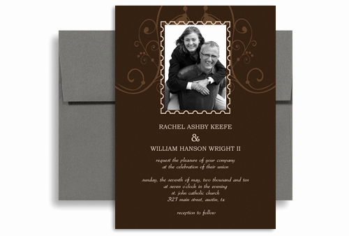 Second Marriage Invitation Wording Lovely Customise Second Wedding Invitation Example 5x7 In