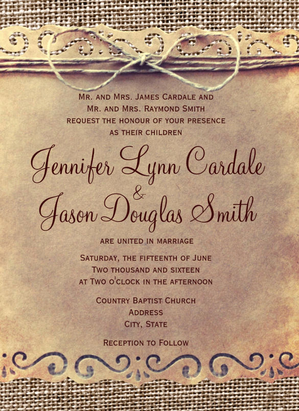 Second Wedding Invitation Wording Awesome 19 Second Marriage Wedding Invitation Templates – Free