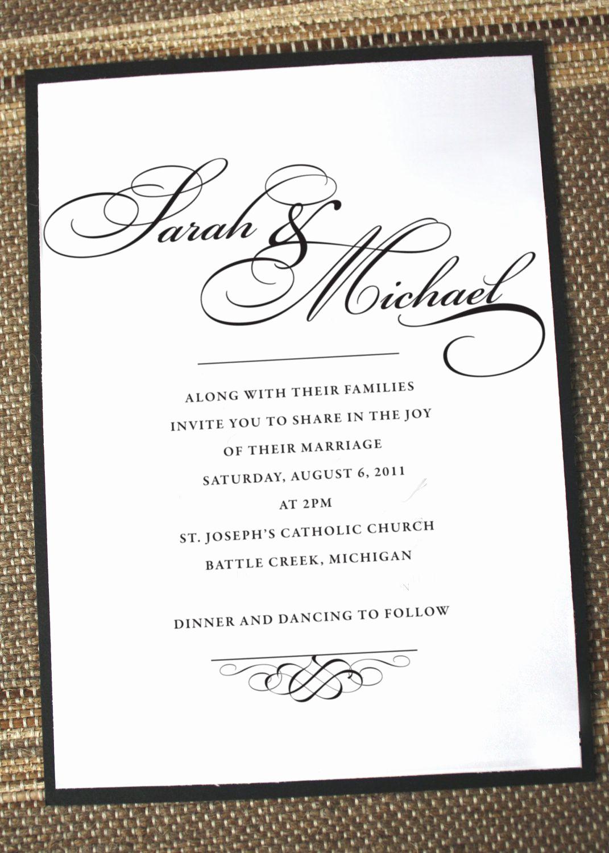 Second Wedding Invitation Wording Beautiful Elegant Wedding Invitations formal Wedding Invites