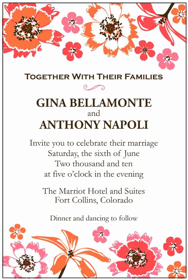 Second Wedding Invitation Wording Best Of Second Wedding Invitation Samples