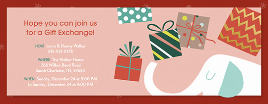 Secret Santa Invitation Template Best Of Free Gift Exchange Line Invitations