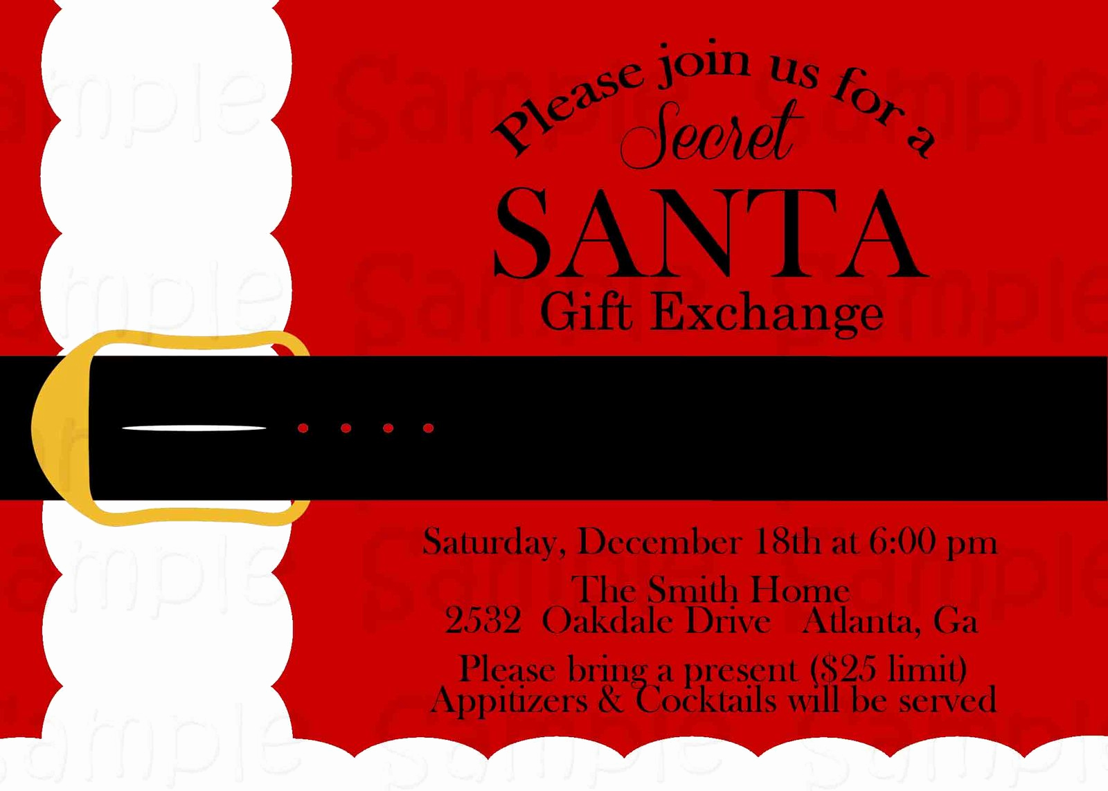 Secret Santa Invitation Template Best Of Gifts for Secret Santa Exchange 2015