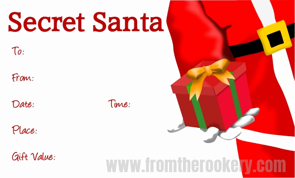 Secret Santa Invitation Template Fresh Free Printable Secret Santa Invitations